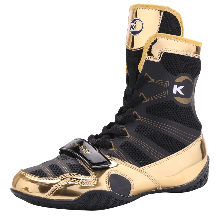 2021 New Men's Wrestling Sneakers Lace Up Calf Muscle Outsole Professional Boxing Shoes Comfortable Boxing Training Shoes
