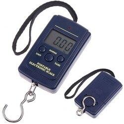 40 кг/1 г мини электронные весы для рыбалки и взвешивания багажа для путешествий весы безмен Портативный электронная шкала подвесного крючка...
