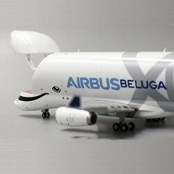 16CM 1/400 Schaal AirBus A330 BELUGA Airlines Vliegtuig Model Lichtmetalen Vrachtbrief Gear Vliegtuigen collectible display Vliegtuigen collection