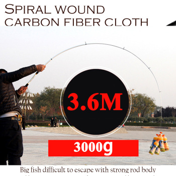 2.1m -3.6m carp feeder hard frp carbon fiber telescopic fishing rod pole