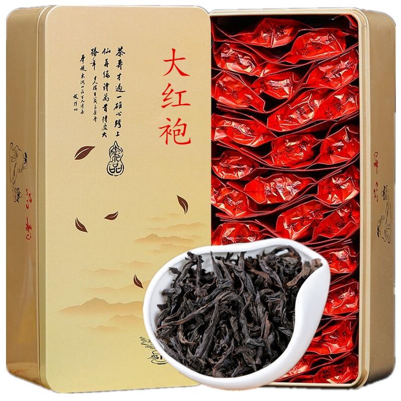 Novo chá dahongpao folhas de chá 150g wuyi chá dahongpao canela bulk chá oolong presente conjunto