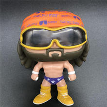 Wrestling Randy Macho Man Savage Boxer Fighter Model Toy Vinyl Action Figure Collectible No Box