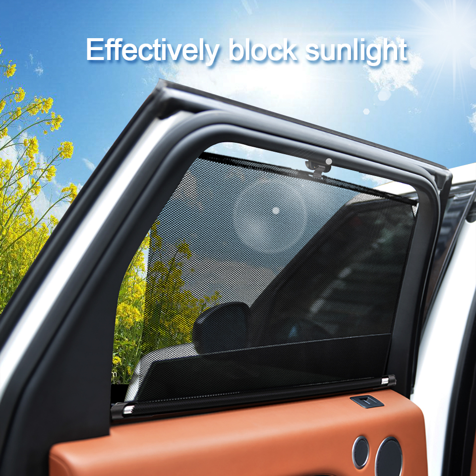 New 2020 Car Sunshade  Retractable UV Protection Cover Sun Shield Black For Vehicle Windshield Side Windows for SUV Cars