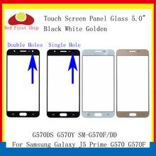 10 adet/grup dokunmatik ekran Samsung Galaxy J5 başbakan G570 G570F G570DS G570Y dokunmatik Panel ön dış Lens J5 başbakan LCD cam