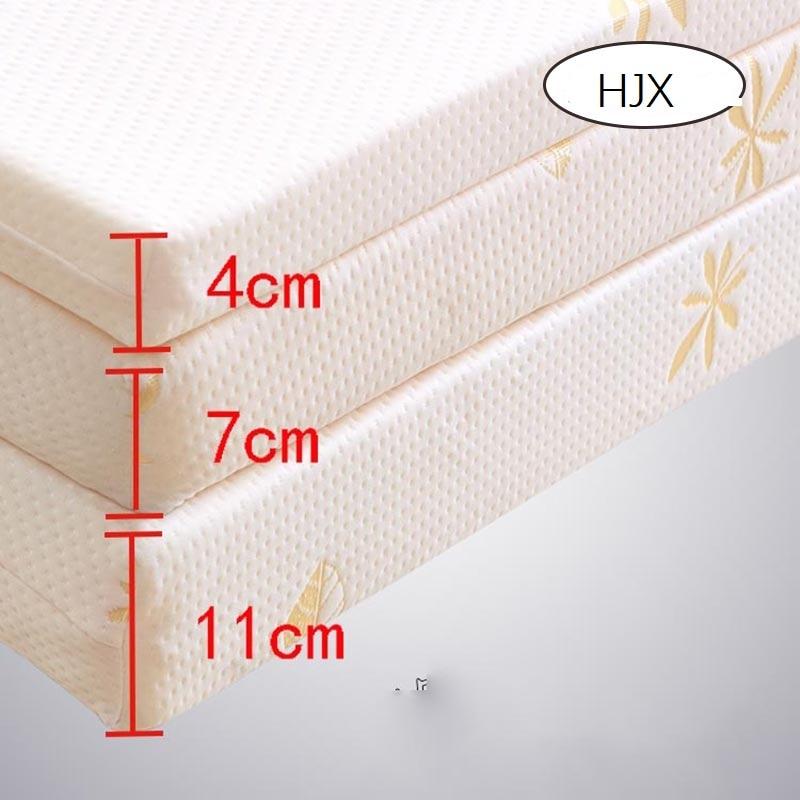HJX 100% Memory Foam Mattress Foldable Slow Rebound Tatami Cotton Mattress Cover Bedspreads King Queen Twin Full Size