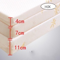 HJX 100% Memory Foam Mattress Foldable Slow rebound Tatami Cotton Mattress Cover Bedspreads King Queen Twin Full Size