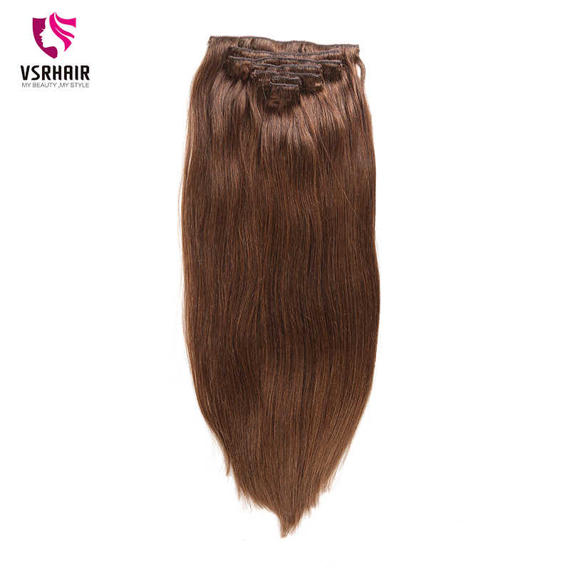 VSR 180g 200g 220g 24 אינץ מכונה רמי קליפ שיער משיי כפול נמשך שיער עבה תחתון 7 יח'\סט קליפ שיער טבעי הארכת