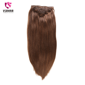Image 4 - VSR 180g 200g 220g 24Inch Machine Remy Clip Hair Silky Double Drawn Thick Hair Bottom 7Pieces/Set Clip In Human Hair Extension
