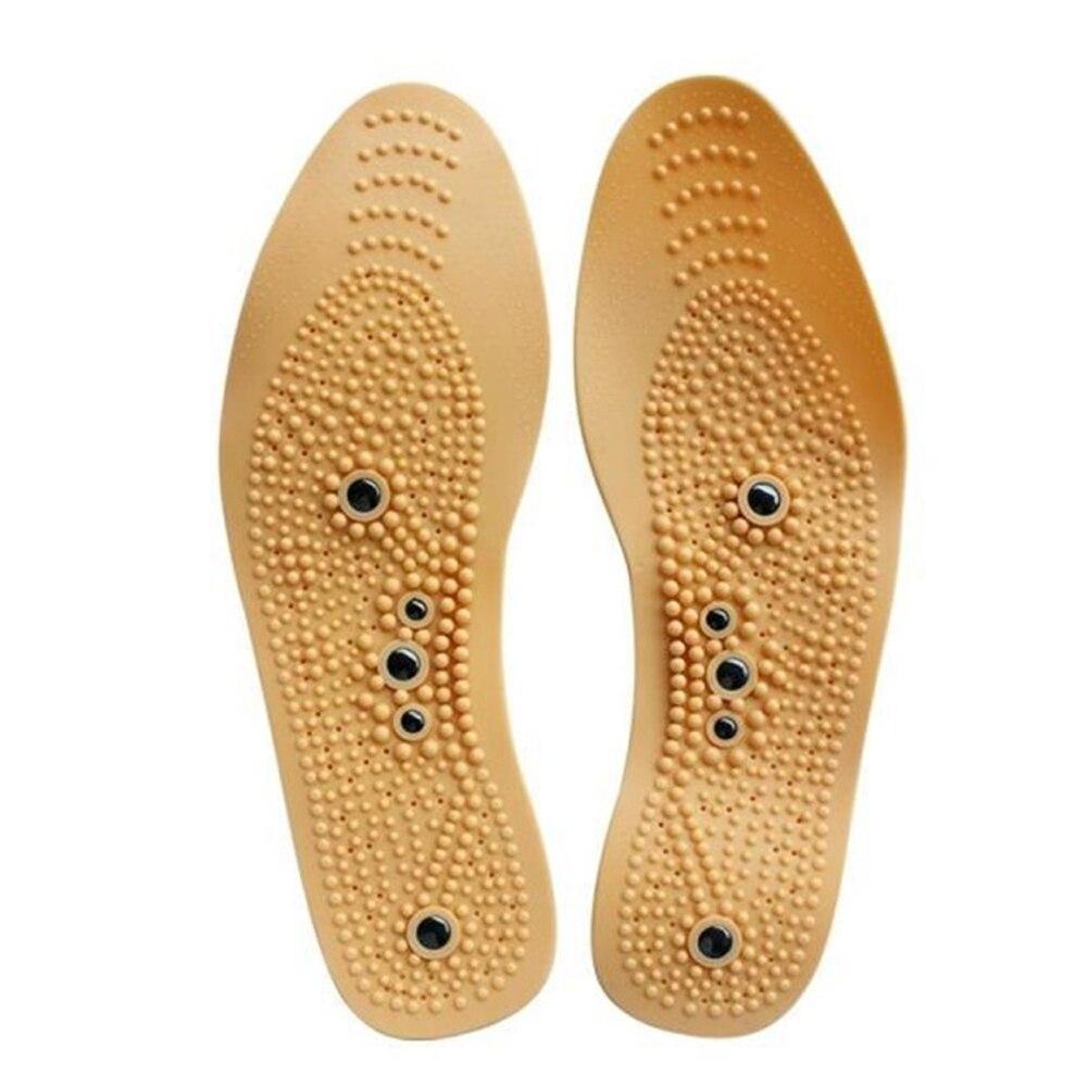 1 пара магнитных массажных стелек для похудения, Удобная подкладка, облегчение боли в ногах, унисекс, акупрессура, Рефлексология