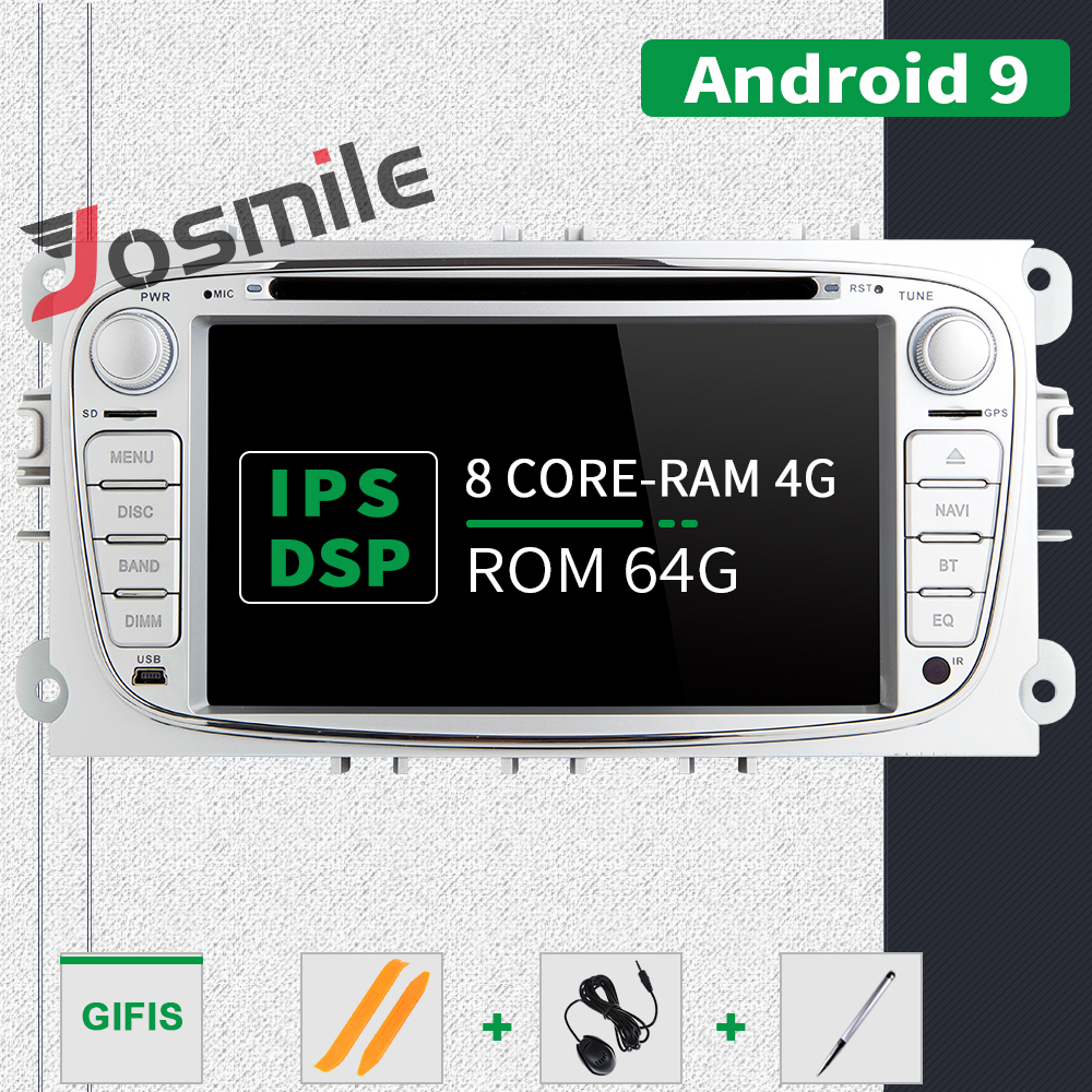 IPS DSP 8 Core 4GB 64G <font><b>2din</b></font> <font><b>Android</b></font> 9 Car Radio Multimedia For Ford Focus <font><b>2</b></font> 3 mk2 Mondeo 4 Kuga Fiesta TransitConnect S-MAXC-MAX image