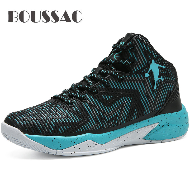 BOUSSAC Basketball Shoes for Men Quality Professional Basketball Game Sneakers High Top Male Shoes Basketball Trainning Sneakers