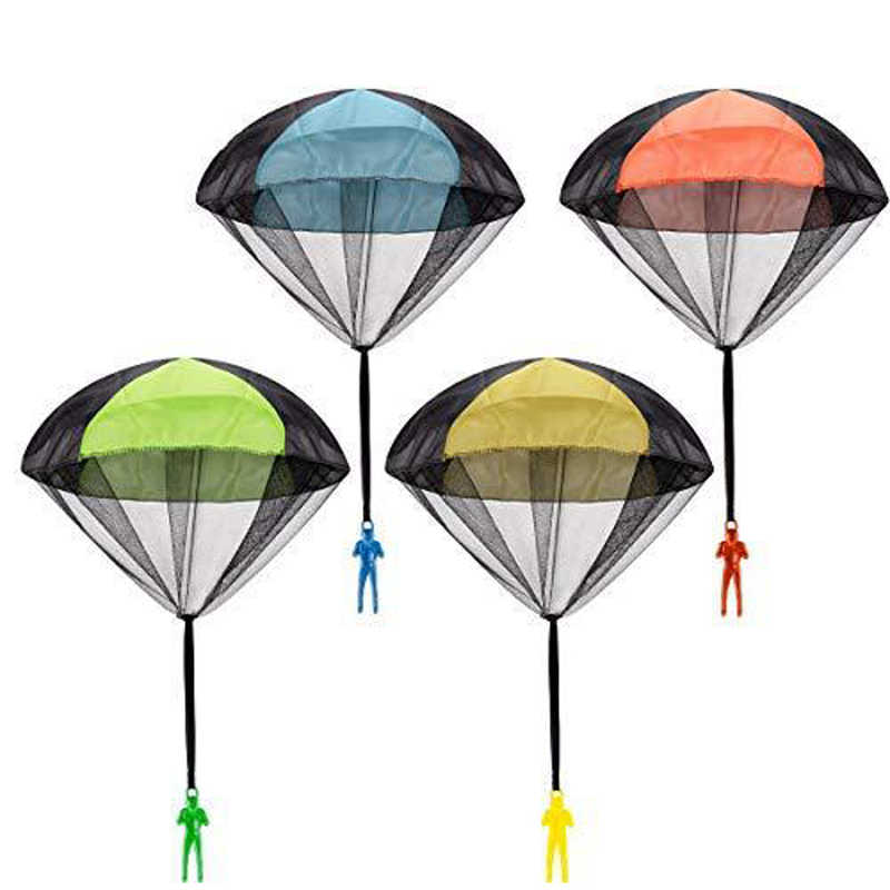 Hand Throwing Mini Soldier Parachute Funny Toy Kid Outdoor Game Play Educational Toys Fly Parachute Sport for Children Toy 2pcs