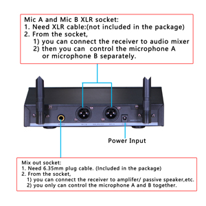 Image 4 - Freeboss FB U35 Dual Way UHF Fixed Frequency Karaoke Party Church Wireless Microphone System with 2 Handheld Microphone