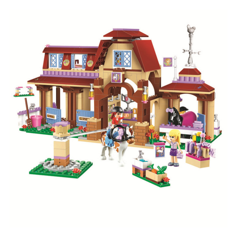 Friends For Girl Heartlake Riding Club Horse Stables Block Set Mia Stephanie Building Toy Compatible With Legoinglys
