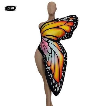 Редкие аксессуары праздничная одежда крылья бабочки костюм аксессуары для сцены вечерние для ночного клуба крылья феи косплей Женская Оде