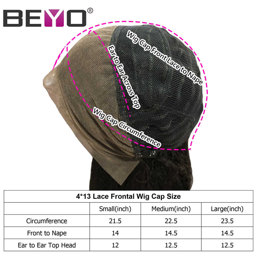 Brazilian StraightLaceFrontalWig 300%DensityFreeCustomizedWig Remy HairBundlesWithFrontalBeyo Human Hair LaceWig