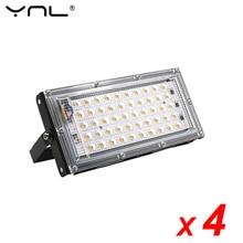 4шт/много 50W вело свет потока водонепроницаемый IP65 AC 220 В 240 В прожектор наружного освещения сада настенный светильник отражатель светодиодных прожекторов