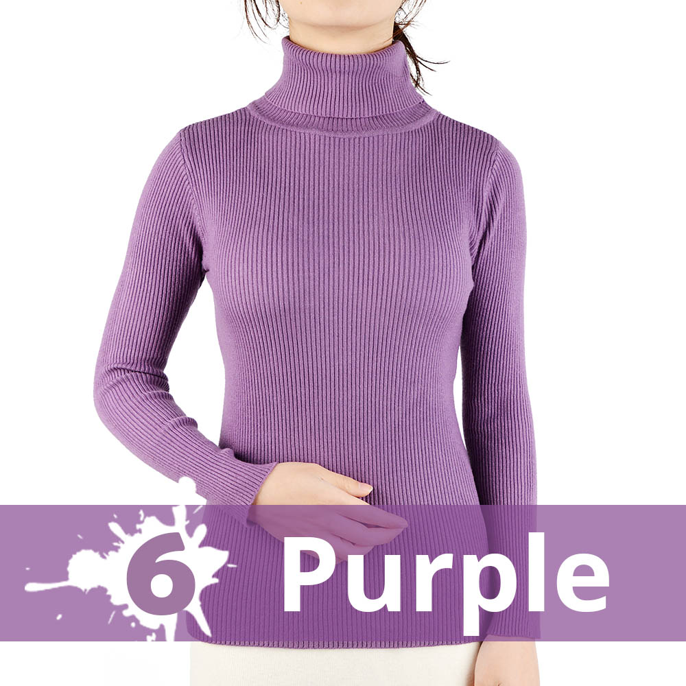 2021 Autumn Winter Thick Sweater Women Knitted Ribbed Pullover Sweater Long Sleeve Turtleneck Slim Jumper Soft Warm Pull Femme 17