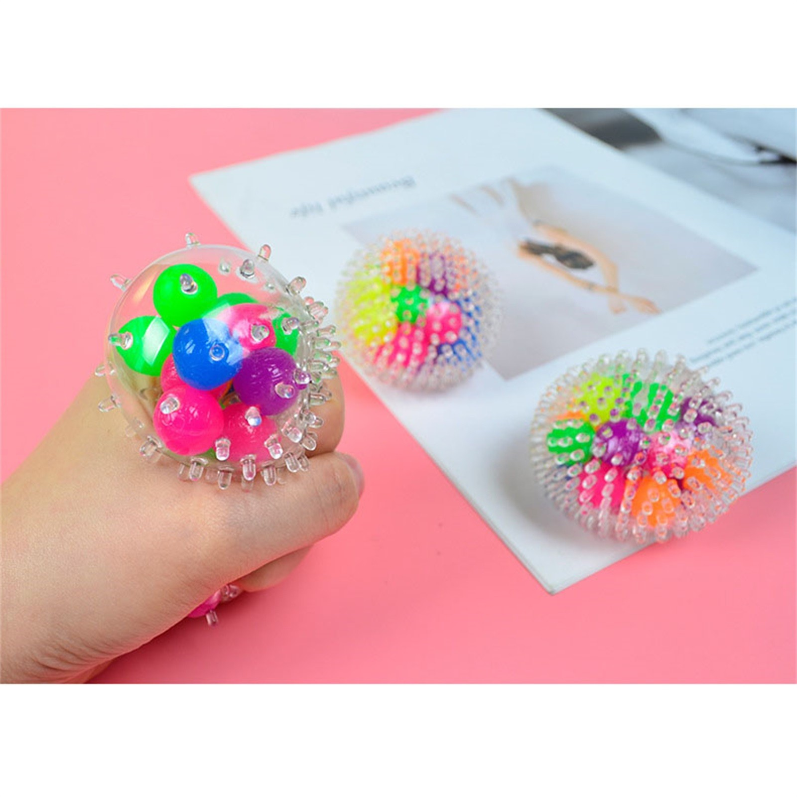 Toy Pressure-Toy Stress Adults for Kids Funny 10PCS Rainbow-Ball Spongy Squeezable Colorful img2