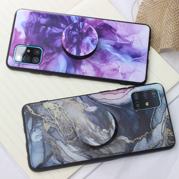 Hand drawn ink Case Phone holder For Huawei Nova 5T Marble Scratch-Resistant Back Cover Soft shell image