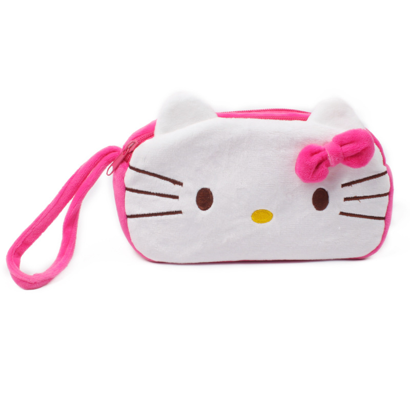 Kawaii SIZE 20CM Cartoon Hello Kitty Plush Backpack , Baby Kid's Kindergarten Plush Satchel Messenger BAG Plush Backpack