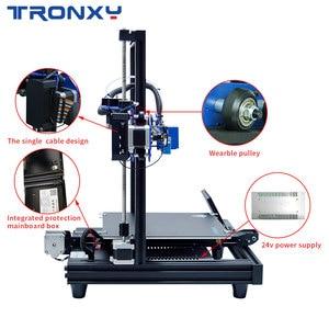 Image 5 - 2020 최신 풀 메탈 3D 프린터 Tronxy XY 2 프로 빠른 어셈블리 자기 열 종이 255*255mm hotbed 0.25KG PLA 필 라 멘 트 선물로