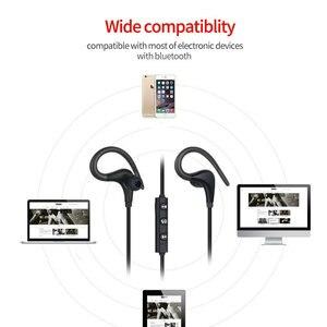 Image 4 - Sport bezprzewodowe słuchawki Bluetooth słuchawki stereofoniczne zaczep na ucho BT 01 Hifi słuchawki douszne z mikrofonem do telefonu Samsung LG Xiaomi