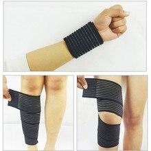 Vendaje autoadhesivo ajustable transpirable 1 Uds., vendaje para rodilla deportivo elástico para acondicionamiento físico, protector presurizado 40 ~ 180