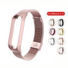 Metall Strap für Xiaomi Mi Band 4 3 5 Handgelenk Band Armband Schraubenlose Edelstahl Ersatz Miband für Mi Band 4 3 armbänder