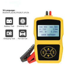 12v Car Battery Tester Digital Automotive Diagnostic Battery Check Analyzer Car Charger Cranking Charging Scanner Tool