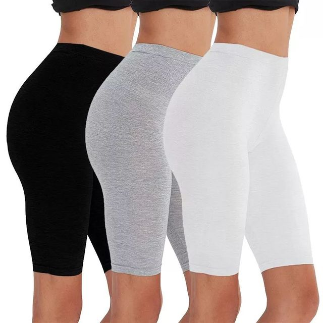 2pcs/3pcs Pack Eco-Friendly Viscose Spandex Bike Shorts For Woman Fitness Active Wear Very Soft Comfortable M30181 1