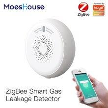 Умный детектор утечки газа zigbee датчик горючего tuya умная
