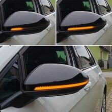 إشارة انعطاف LED ديناميكية كريستال لـ VW Golf MK7.5 GTI 7 7.5 R Rline GTD MKVII ، ضوء المرآة ، شفاف 2013 2015 2018 2019 2020 السهم