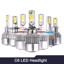 C6 Car Lights Bulbs LED H1 H3 H4 H7 H8 H11 H13 9004 9005 9006 9007 880 881 Auto Headlights 12V Led Light