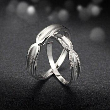 Diamond 18K White Gold Wedding Bands Engagement Couple Rings Handmade Diamond Jewelry