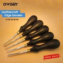 Owden borda de couro chanfro ferramenta leathercraft ferramenta de couro skiving ferramenta diy afiada corte cortador de borda de couro ferramenta de corte redondo