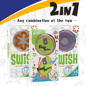 Image 2 - 논리 게임 swish 재미있는 투명 교육 카드 게임 어린이를위한 논리 게임 카드 놀이 명소 보드 게임 어린이를위한 장난감