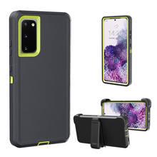 غلاف واقي 3 في 1 لهاتف Samsung Galaxy S20 Ultra S10 Plus ، جراب هاتف هجين ، Note 10 S20 Plus ، مقاوم للصدمات
