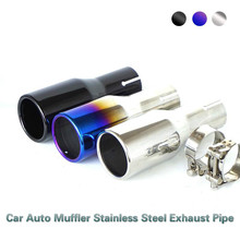 цена на BAFIRE 76mm Stainless Steel Universal Car Exhaust Pipe Muffler Tail Pipe End Pipes Stainless Steel Exhaust Muffler Pipe Black
