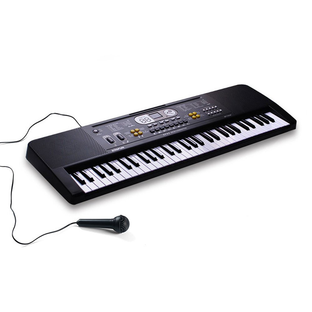 Ingenious 61keys Digital Music Electronic Keyboard Kid Multifunctional Electric Piano For Piano Student With Microphone Musical Instrument