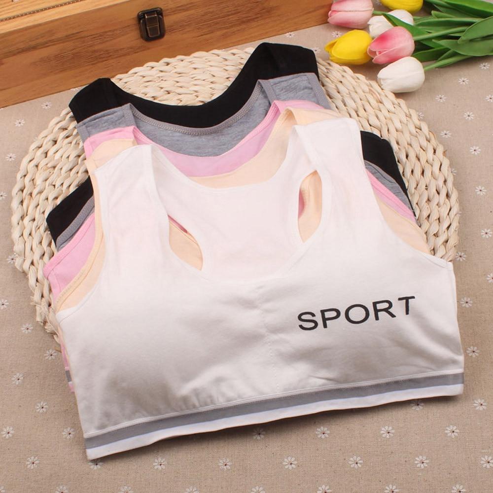 Lovely Puberty Bra Kids Developmental Adolescents Girls Underwear Bras Girls Vest Children Underclothes Sport Undies Clothes Bra