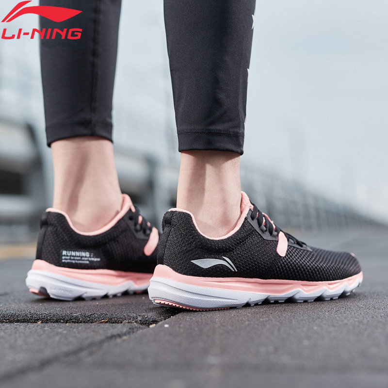 Li-Ning Women EZ RUN Light Weight Running Shoes Breathable Stable Support LiNing Li Ning Sport Shoes Sneakers ARBP036 XYP918