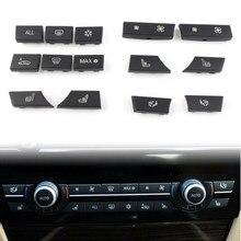 Interruttore del riscaldatore A/C di riparazione dei cappucci chiave del bottone dell'automobile di 14 pz/set per BMW 5 6 7 serie F01 F02 F07 F10 F11 F06 F12 F13 61319313924