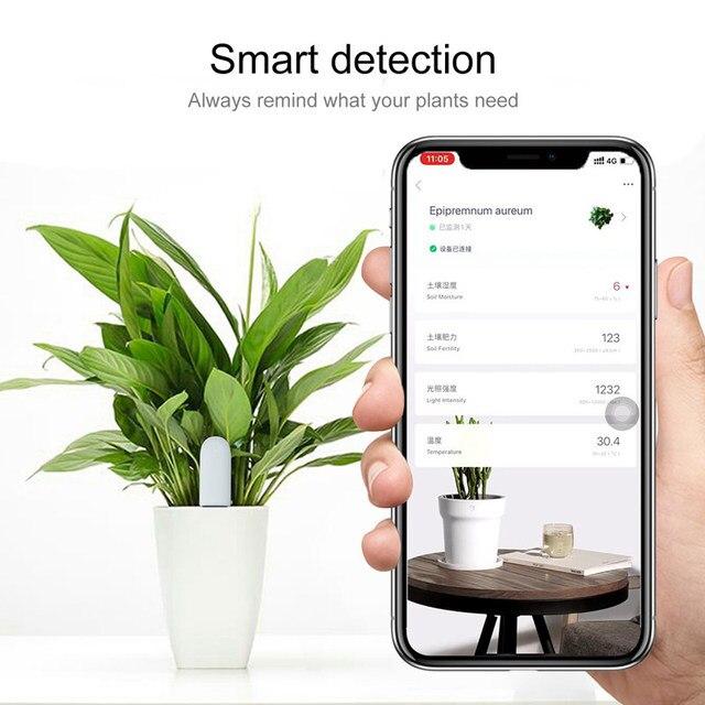 YouPin HHCC Flower Monitor Plants Grass Soil Water Light Smart Tester Flora Care Detect Sensor Garden Global Version For XiaoMi 6