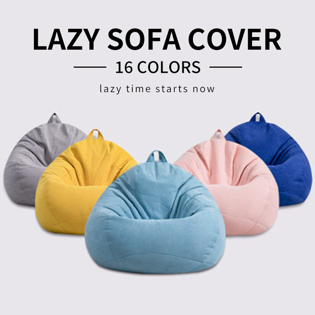 Solid Color Lazy Sofa Cover 1