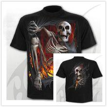2020新tシャツ男性/女性死神スカル3Dプリントtシャツカジュアル原宿スタイルtシャツストリートトップス