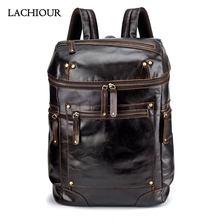 Мужской рюкзак из натуральной воловьей кожи модная мужская дорожная
