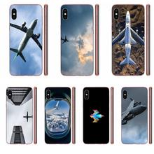 Airplane At The Sunrise Aircraft Plane Landing Design For Xiaomi Redmi 3 3S 4 4A 4X 5 6 6A 7 K20 Note 2 3 4 5 5A 6 7 Plus Pro