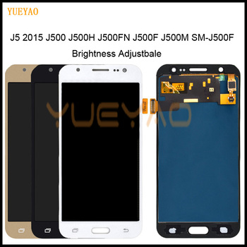 Brightness Adjustbale J500F LCD For Samsung J5 2015 LCD J500F/FN J500G J500Y J500M Display Touch Screen Digitizer For J500 LCD image