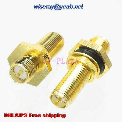 DHL/EMS 200pcs Adapter RPSMA Female To RPSMA Female Bulkhead O-Ring RF COAXIAL With One Year Warranty -a4